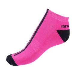 Ponožky Infantia Softline růžové s černou linkou