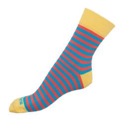 Ponožky Infantia Classicline žluto oranžovo modré pruhy