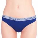 Dámská tanga Calvin Klein modrá (QD3539E-SX1)