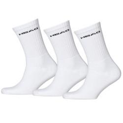 3PACK Ponožky HEAD crew bílé