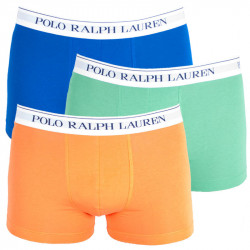3PACK pánské boxerky Ralph Lauren modro oranžovo zelené