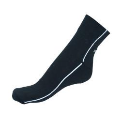 Ponožky Infantia streetline černé s bílou linkou