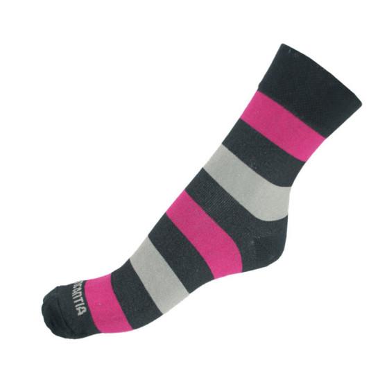 Ponožky Infantia Classicline růžovo šedo černé pruhy
