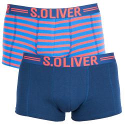 2PACK pánské boxerky S.Oliver blue/orange striped