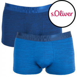 2PACK pánské boxerky S.Oliver ink navy melange