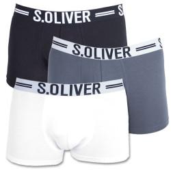 3PACK pánské boxerky S.Oliver black white grey