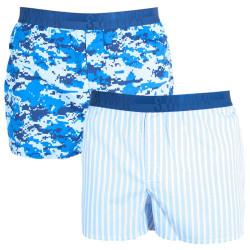 2PACK pánské trenýrky S.Oliver blue & blue stripes