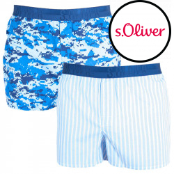 2PACK pánské trenýrky S.Oliver blue