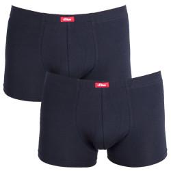2PACK pánské boxerky S.Oliver black