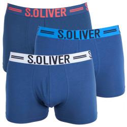 3PACK pánské boxerky S.Oliver blue