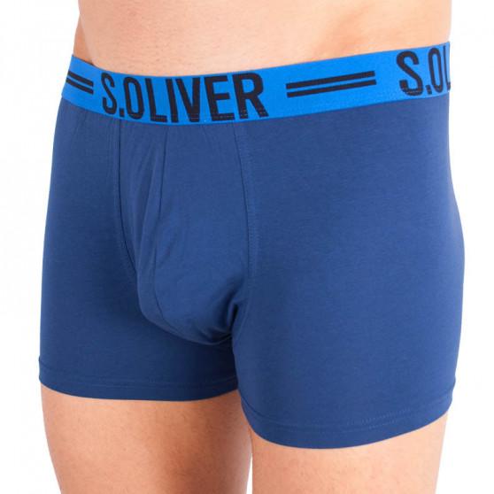 3PACK pánské boxerky S.Oliver modré (26.899.97.4229.12C1)