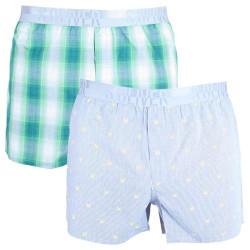 2PACK pánské trenýrky S.Oliver green & stripes/crayfish