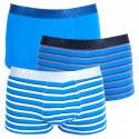 3PACK pánské boxerky S.Oliver blue stripes