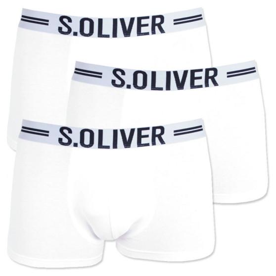 3PACK pánské boxerky S.Oliver bílé (26.899.97.4229.12B8)