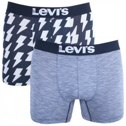 2PACK pánské boxerky Levis Jet black