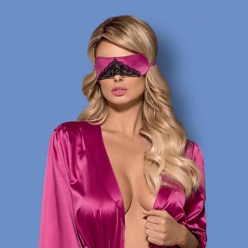 Maska Obsessive satinia mask pink uni