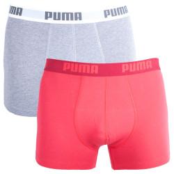 2PACK Pánské Boxerky Puma Red Long