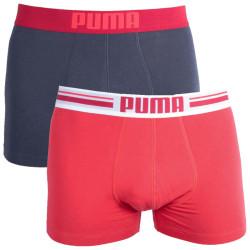 2PACK Pánské Boxerky Puma Placed Logo Red Long