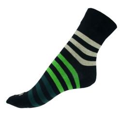 Ponožky Infantia Classicline černo zelené pruhy