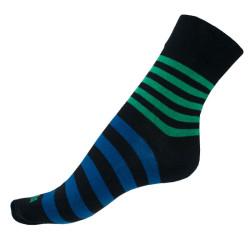 Ponožky Infantia Classicline černo modré pruhy