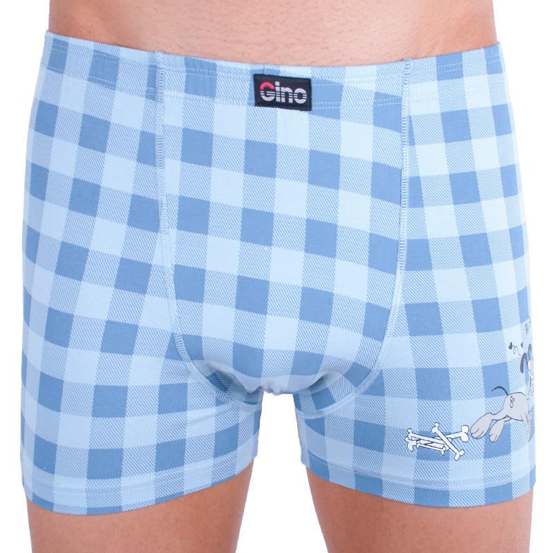 Pánské boxerky Gino s kratší nohavičkou pejskové šedé S