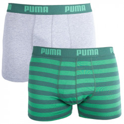 2PACK Pánské Boxerky Puma Green Stripes Long