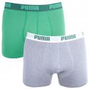 Pánské Boxerky Puma 2PACK Amazon Green Long