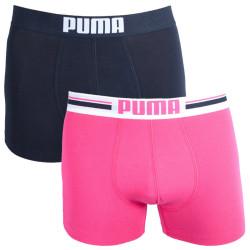 2PACK pánské boxerky Puma placed logo pink long