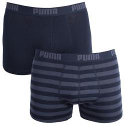 2PACK Pánské Boxerky Puma Black Stripes Long