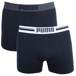 2PACK Pánské Boxerky Puma Placed Logo Black Long