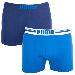 2PACK Pánské Boxerky Puma Placed Logo Blue Long