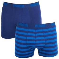 2PACK Pánské Boxerky Puma Striped Blue Long