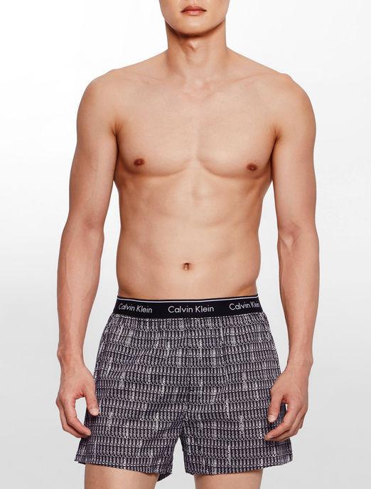 Pánské trenýrky Calvin Klein classic fit černé s nápisy Ck L