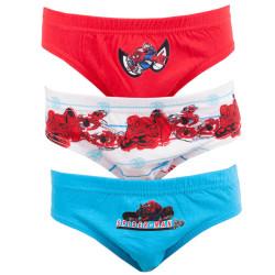 3PACK chlapecké Slipy Spiderman červená modrá bílá