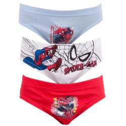 3PACK chlapecké Slipy Spiderman červená šedá bílá