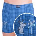 Pánské boxerky Gino s kratší nohavičkou pejsek modré
