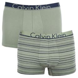 2PACK pánské boxerky Calvin Klein khaki (NU8643A-IYT)