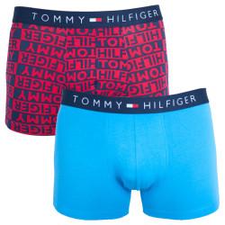 2PACK pánské boxerky Tommy Hilfiger trunk modro červená písmena