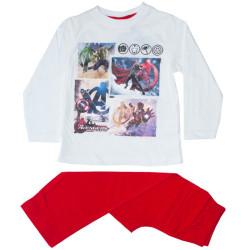 Chlapecké pyžamo Molvy Avengers bílo červené