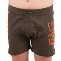Chlapecké boxerky Molvy khaky se znakem