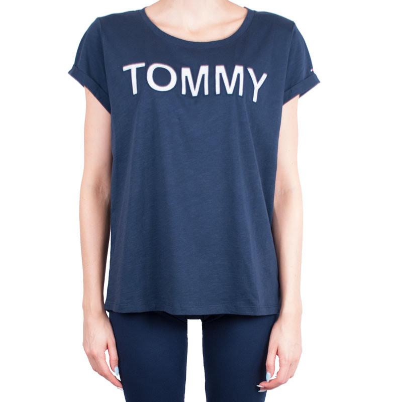 Dámské tričko Tommy Hilfiger tmavě modré (UW0UW00401 416) XL