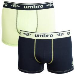 2PACK pánské boxerky Umbro černo zelenkavé