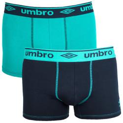2PACK pánské boxerky Umbro černo zelené