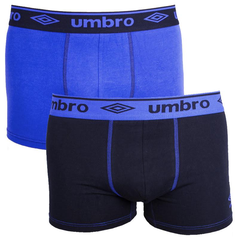 2PACK pánské boxerky Umbro long černo fialové