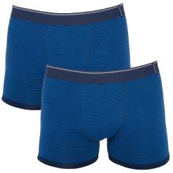 2PACK pánské boxerky Molvy tmavě modré proužky