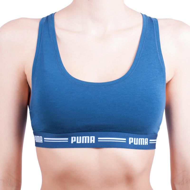 Dámská sportovní podprsenka Puma modrá (574006001 945) L 2e0149ff19c