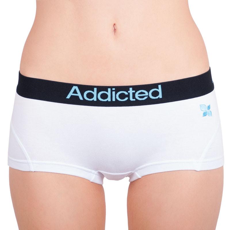 Dámské kalhotky Addicted bílá modrá L