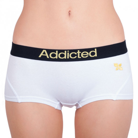 2PACK dámské kalhotky Addicted bílo fialová bílo žlutá