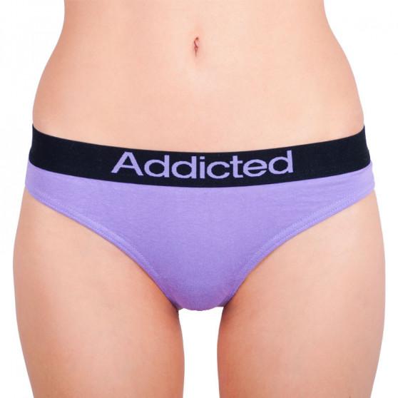 2pack dámská tanga Addicted fialová modrá