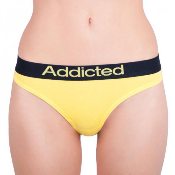 2pack dámská tanga Addicted fialová žlutá